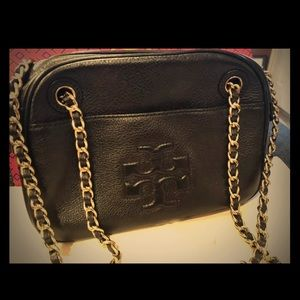 Tory Burch Thea satchel black pebbled leather